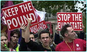 A protest against the Euro