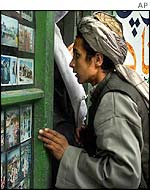 Man at shop in Kandahar