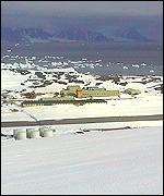 Rothera research base: BBC