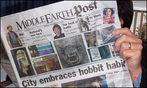 Middle earth newspaper