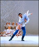 Natalia Ledovskaya as the Snow Maiden with Dmitry Zababurin as her suitor Mizgir