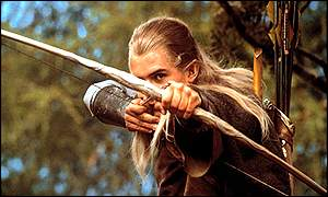 On target: Orlando Bloom as elf Legolas