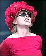 Blondie performed at the Glastonbury festival in 1999
