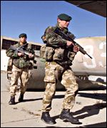British Marines arrive in Afghanistan