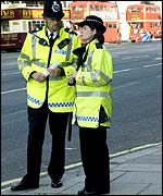 Met Police officers on patrol