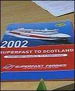 Superfast ferry brochure