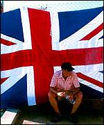 England fan with union flag