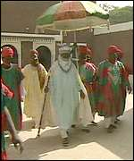 The Emir of Kano with followers