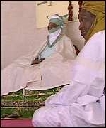 The Emir of Kano on his throne