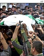 The funeral of Abdou Abu Bakra, a Fatah member killed in a clash with the Israeli army