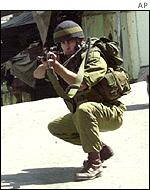 Israeli soldiers in Hebron in September
