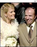 Carlos Menem at his recent wedding