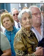 Pensioners queueing in Buenos Aires