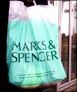 A Marks & Spencer bag