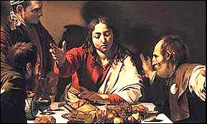 Caravaggio's The Supper at Emmaus