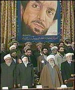 Ahmed Shah Masood's face overseeing the ceremony