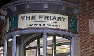 Entrance to the Friary Shopping Centre in Guildford
