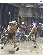 Rioting in Buenos Aires