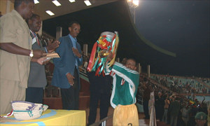 Ethiopia's captain lifts the Cecafa Cup