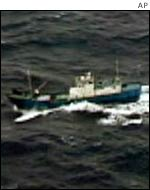 Mystery ship off Japan