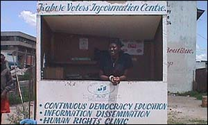 Voter education kiosk
