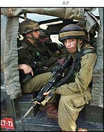 Israeli soldiers of the search party