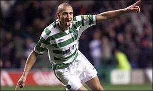 Henrik Larsson celebrates his last-gasp winner