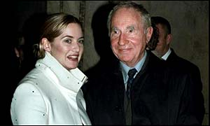 Hawthorne and Winslet at an Imperial Cancer Research Funds Christmas Concert at St Paul's Cathedral