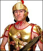 Rodney Trotter appeared dressed as Gladiator star Russell Crowe in the special show