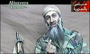 Osama Bin Laden - image taken from al-Jazeera TV