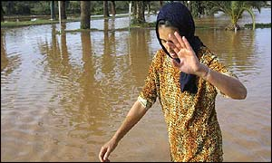 Flood victim in Mohamedia