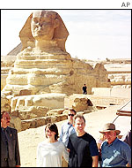 Tony and Cherie Blair at the sphinx
