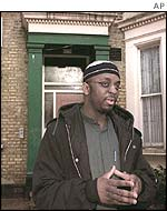 Abdul Haqq Baker outside the Brixton Mosque