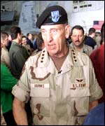 Commander of US forces in Afghanistan General Tommy Franks