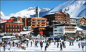 Tignes ski resort in France