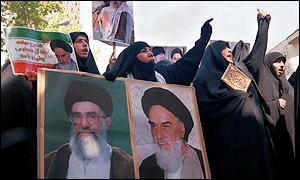Iranian hardliners at demonstration