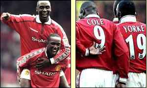 Andy Cole and Dwight Yorke's partnership fired United to the Treble in 1999