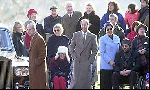 Members of the royal family at Sandringham