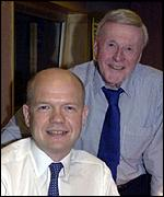 Sir Jimmy Young and William Hague