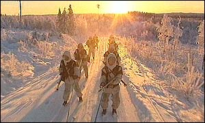 Finnish troops on exercise
