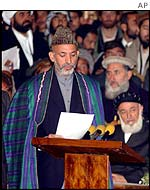 Hamid Karzai, head of the administration