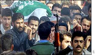 Funeral of Palestinian militants killed by Israel
