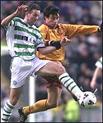 Paul Lambert and Yann Soloy battle it out