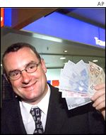 New Zealand's associate minister of finance, Trevor Mallard, buys euros at 1101 GMT on 31 December