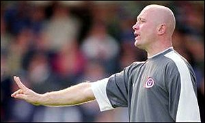 Nicky Law issues instructions as Chesterfield manager