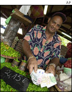 Market trader in Reunion