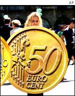 Munich's euro parade, May 2001