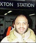 Zacarias Moussaoui outside a London Underground station