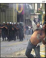 Riot in Buenos Aires