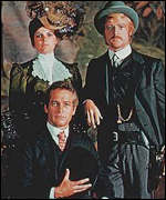 Paul Newman, Robert Redford and Katherine Ross